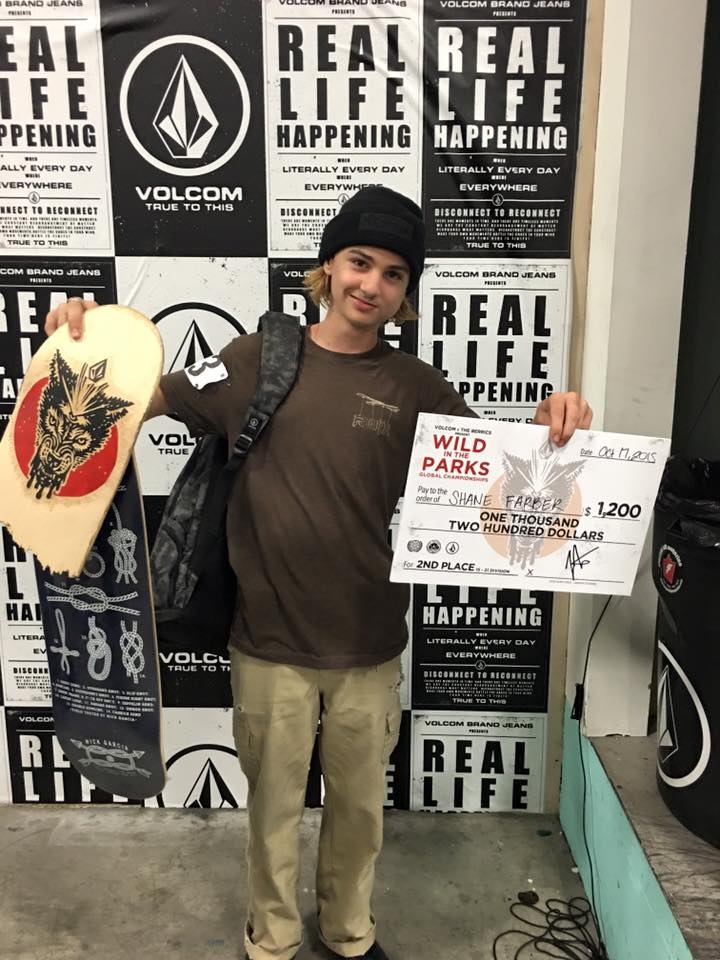 Shane 2nd at Volcom